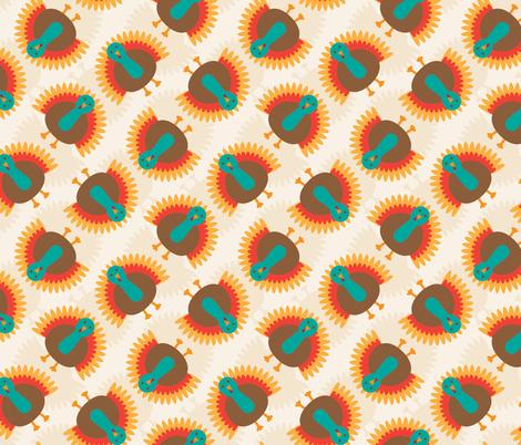 Turkey Twirl fabric by meglish on Spoonflower - custom fabric