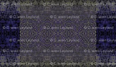 Cobalt Grunge Castle Tapestry