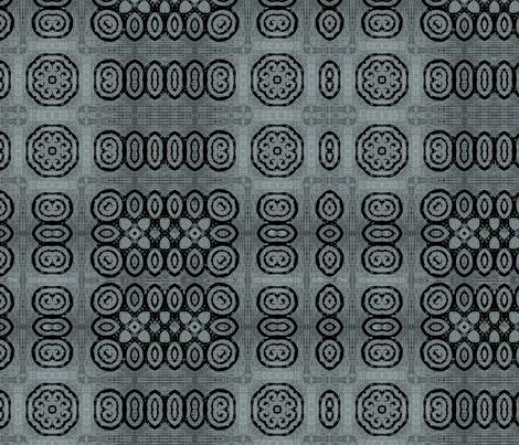 Ikat Charcoal Weave fabric by wren_leyland on Spoonflower - custom fabric
