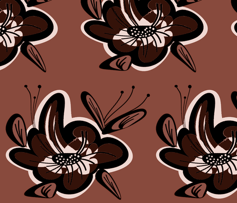 Flower54 fabric by retroretro on Spoonflower - custom fabric