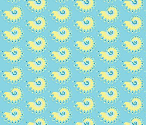 Fractal Tropical Nautilus Shell fabric by clotilda_warhammer on Spoonflower - custom fabric