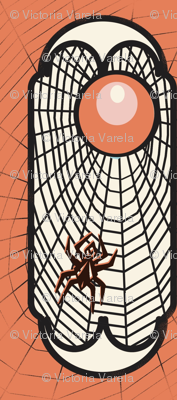 Spider web (orange)