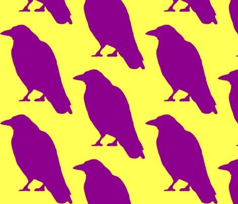 Purple Raven fabric by dreamskyart on Spoonflower - custom fabric