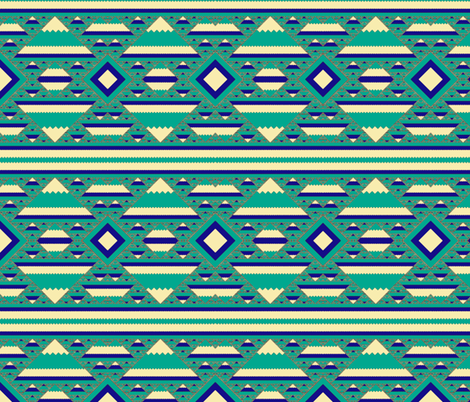 Arrows, Diamonds, and Mountain Blanket Fractal 2 fabric by clotilda_warhammer on Spoonflower - custom fabric