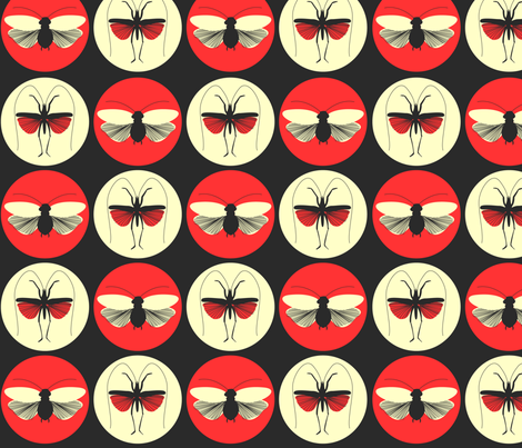Bugs under the Spotlight fabric by sketchcreative on Spoonflower - custom fabric