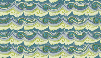 Aegean Sea - Greek Stucco series, small waves