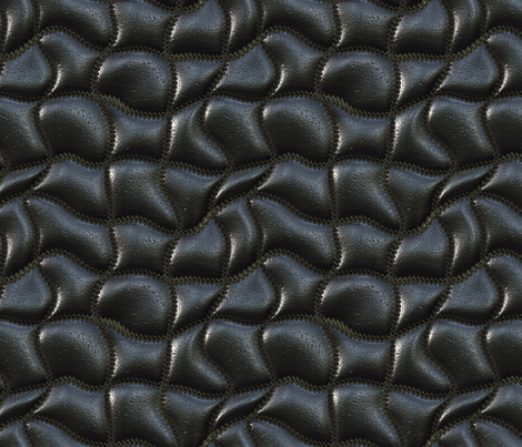 Wave-quilted leather fabric by bonnie_phantasm on Spoonflower - custom fabric