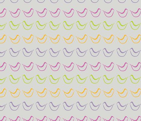 Birds_Big on Gray fabric by roxanne_lasky on Spoonflower - custom fabric