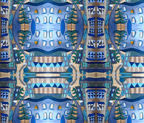 urban landscape fabric by feltnlove on Spoonflower - custom fabric