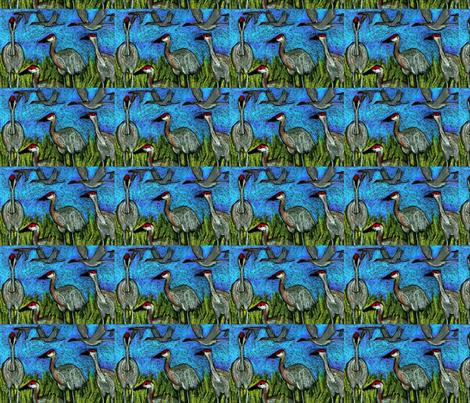 sandhill cranes fabric by juliannjones on Spoonflower - custom fabric