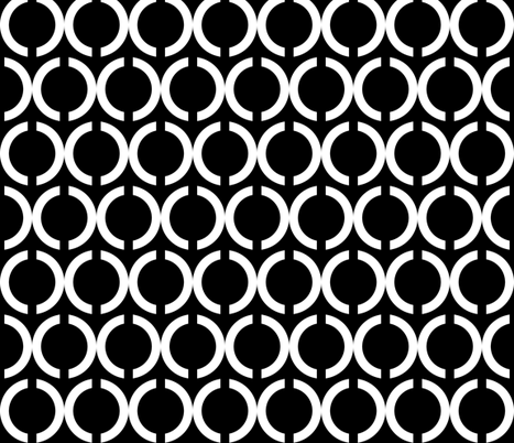 Unlinked White on Black fabric by pond_ripple on Spoonflower - custom fabric