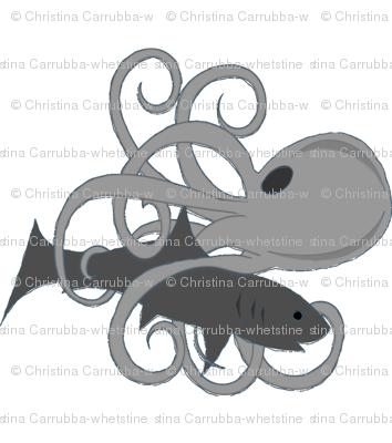 Octopus Shark Battle