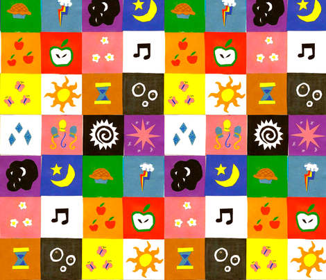Cutie Mark Quilt fabric by nualapegasus on Spoonflower - custom fabric