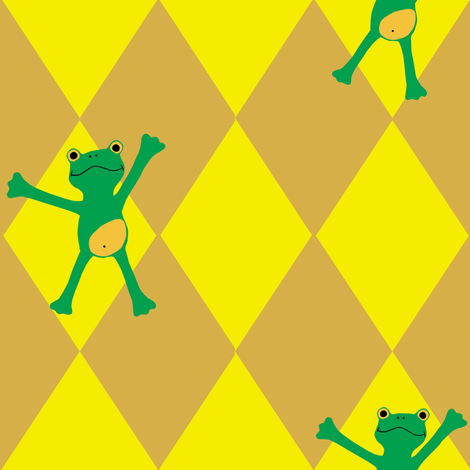 Froggy Popeloning fabric by honey_gherkin on Spoonflower - custom fabric