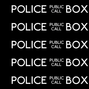 Police Box Sign - smaller