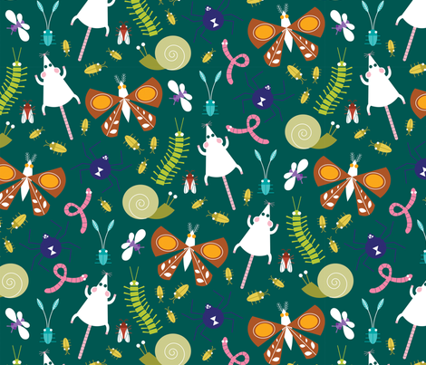 Icky Insects and Creepy Critters fabric by jordan_elise on Spoonflower - custom fabric