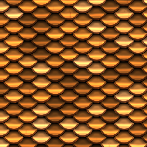 Scale Armour - Gold / Brass / Copper fabric by bonnie_phantasm on Spoonflower - custom fabric