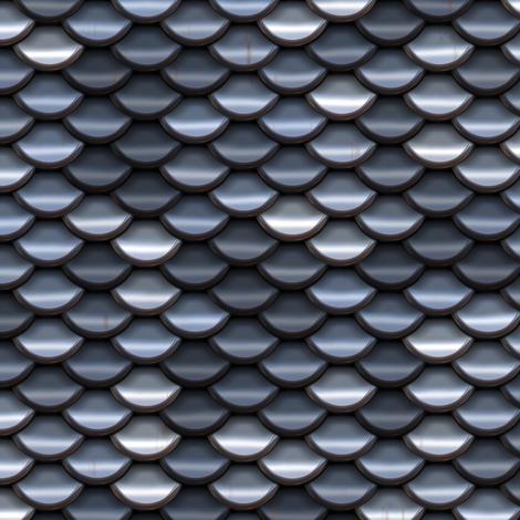 Scale Armour - Silver / Steel fabric by bonnie_phantasm on Spoonflower - custom fabric