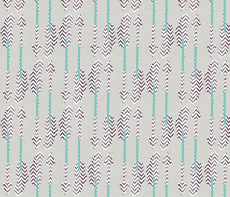 arrows chevron fabric by katarina on Spoonflower - custom fabric