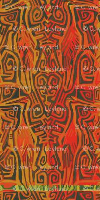 Matuku Cranes in Tangerine and Reds