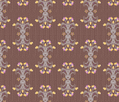 Kantha Bouquet 3 fabric by bee&lotus on Spoonflower - custom fabric
