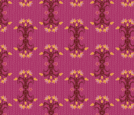 Kantha Bouquet 5 fabric by bee&lotus on Spoonflower - custom fabric