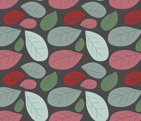 retro leaves fabric by kociara on Spoonflower - custom fabric