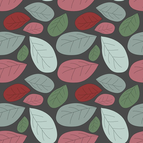 retro leaves