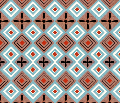Egyptian wallpaper fabric by unseen_gallery_fabrics on Spoonflower - custom fabric