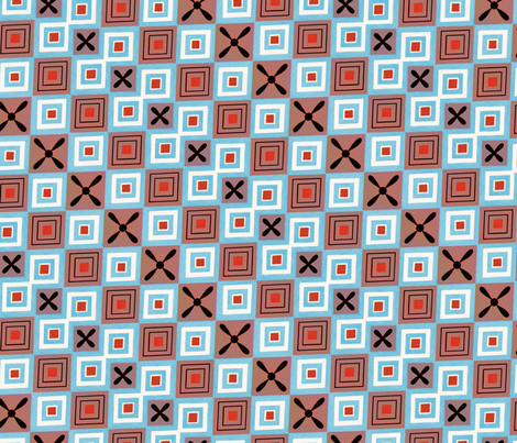 Variation of Egyptian abstract fabric by unseen_gallery_fabrics on Spoonflower - custom fabric