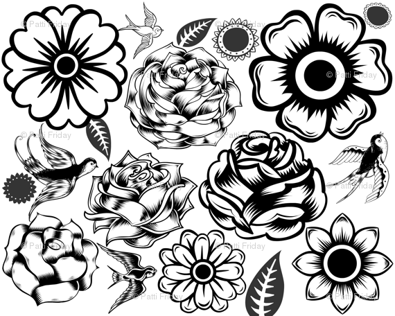 day of dead flowers fabric pattifriday spoonflower