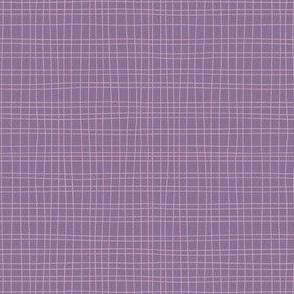 Uneven weave purple