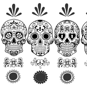 Day of Dead Skin Row