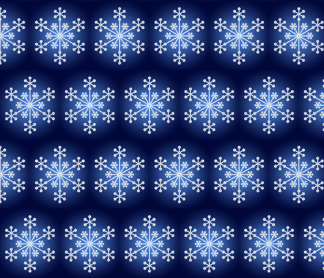 Icy Snowflake on Blue Gradient fabric by carolyn_cameron on Spoonflower - custom fabric