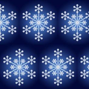 Icy Snowflake on Blue Gradient
