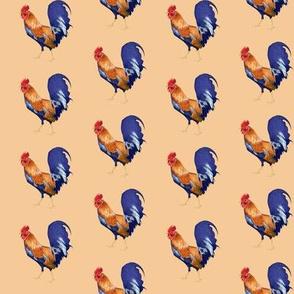 Rooster on Pale Orange
