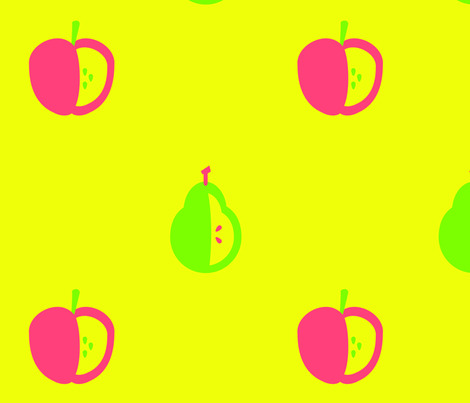 Apples & Pears fabric by attackofthecastleoflove on Spoonflower - custom fabric