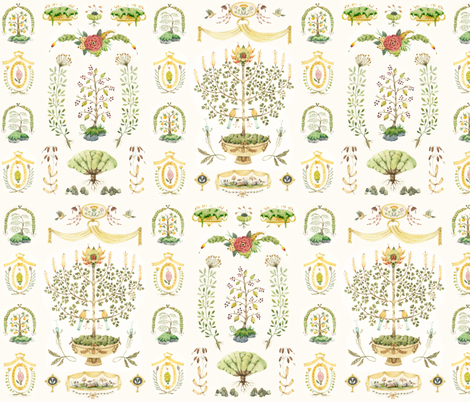 Things of this Nature: Sampler fabric by wendywhatley on Spoonflower - custom fabric