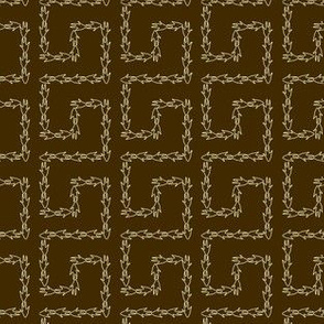 Armadillo Greek Key - Brown