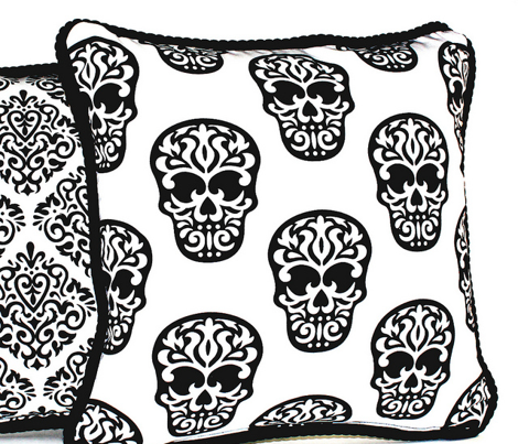 Skulls Black on White