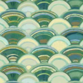 Scales in Ivory and Green (larger version)