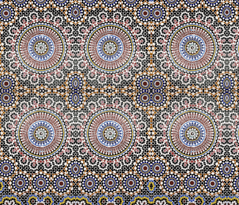 Mosaic fabric by flyingfish on Spoonflower - custom fabric