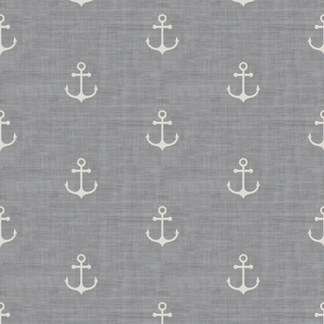 Anchor - Off white Light Gray Texture fabric by kimsa on Spoonflower - custom fabric