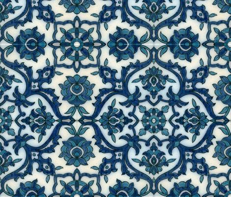 DamascusBlueTile fabric by flyingfish on Spoonflower - custom fabric