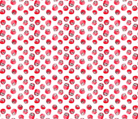 Tumbling Daruma Pattern fabric by shiro on Spoonflower - custom fabric