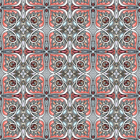 My Knight in Salmon Armor fabric by edsel2084 on Spoonflower - custom fabric