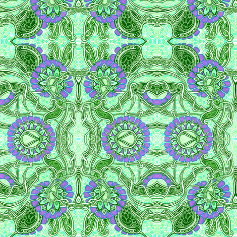 Another Go at Art Nouveau fabric by edsel2084 on Spoonflower - custom fabric
