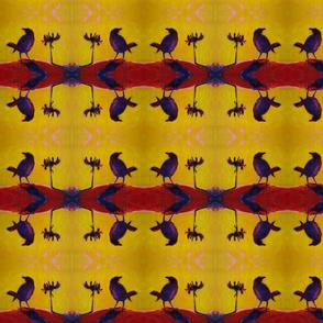 Sunset Ravens