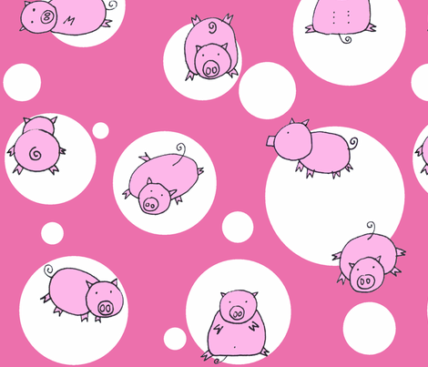 Piglet fabric by honey_gherkin on Spoonflower - custom fabric