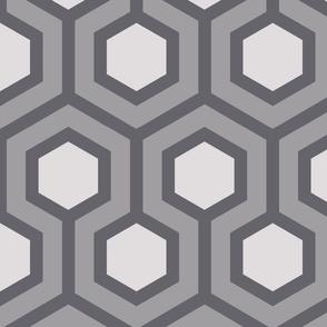 Gray Honeycomb Geo 4